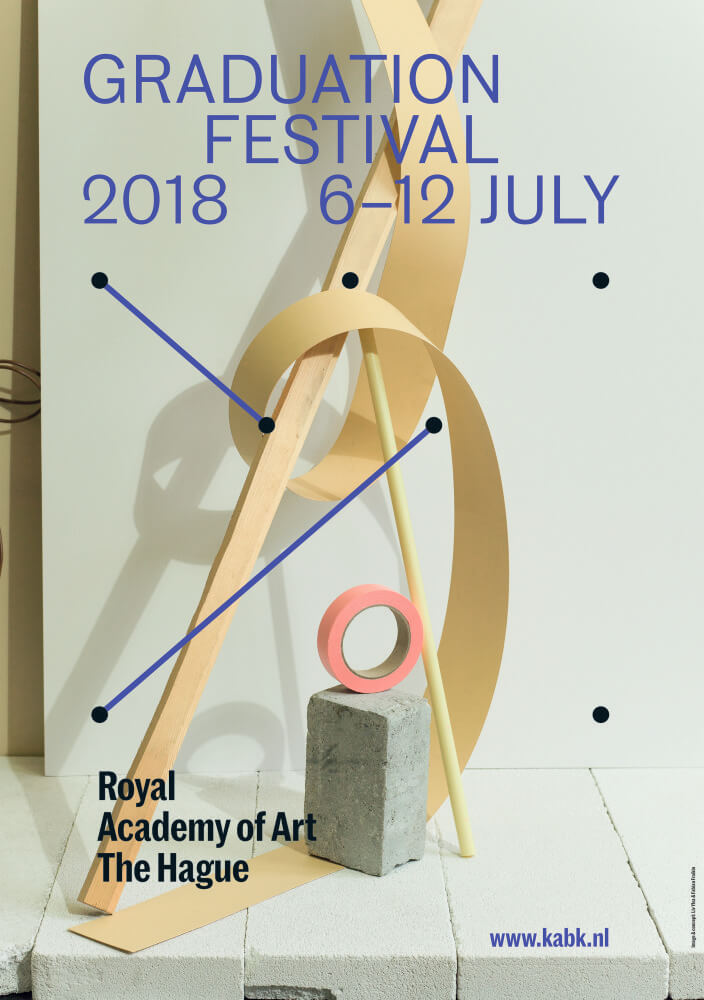 You are invited to the Graduation Festival of the Royal Academy of Art, The Hague! From Friday 6 July through Thursday 12 July. Over 200 bachelor, master and postgraduate students will present their graduation projects in our academy building. The festival hosts exhibitions, performances, guided tours, lunch meetings and artist talks! Please check www.kabk.nl for latest info on all graduates, full programme, opening hours and location!